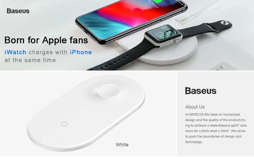 Baseus 2w1 | Ładowarka Indukcyjna Fast Apple Watch iPhone